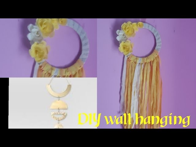 DIY  wall hanging. Best 0ut of waste. Shopping bag reuse