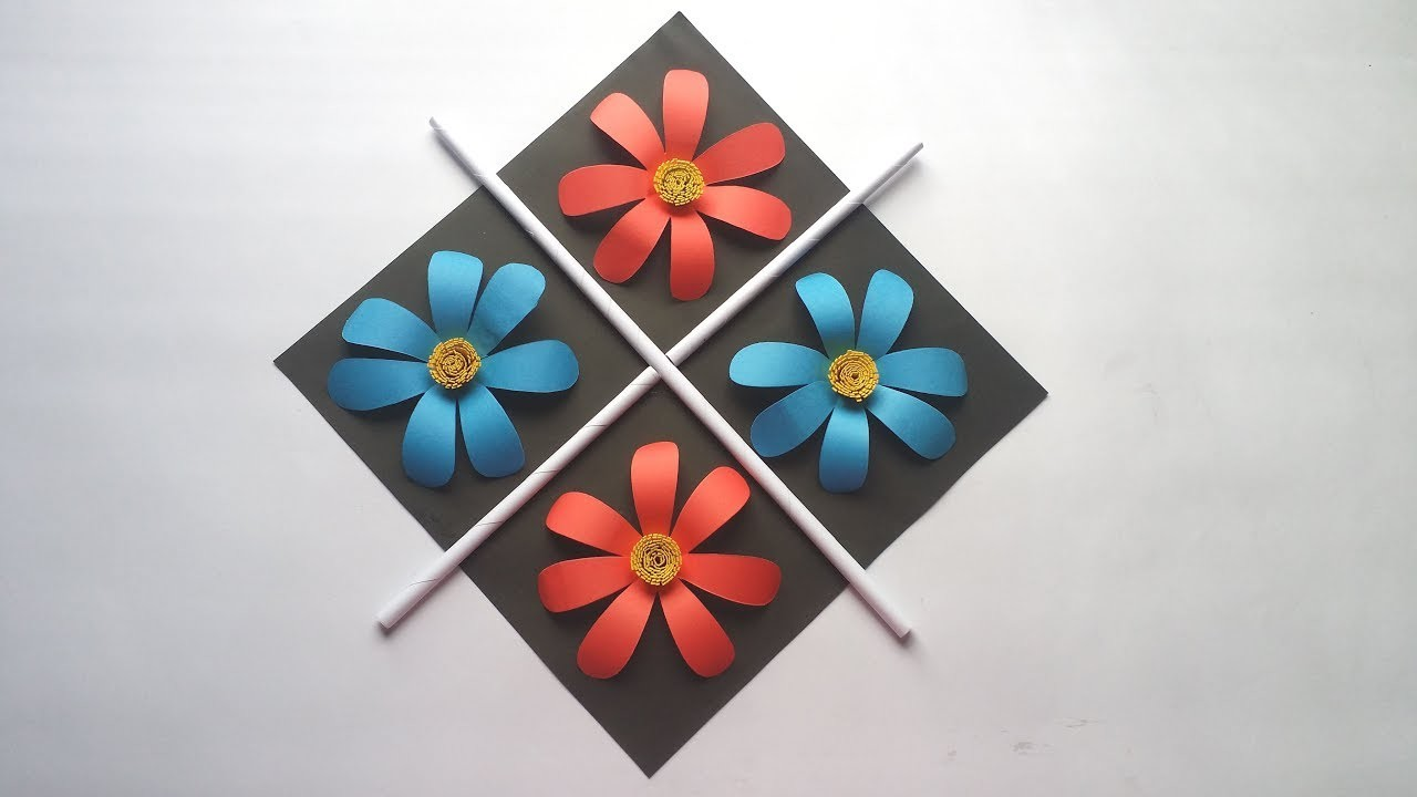 DIY: Wall Hanging Idea!!! How to  Make Wall Hanging with Colour Paper for Home.Room Decoration!!!