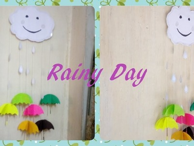 Diy wall hanging. Rainy Day Wall Hanging. Kids' special