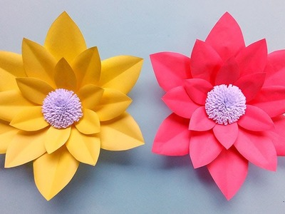 DIY: Wedding paper flowers -Very easy paper flower backdrop tutorial and free template
