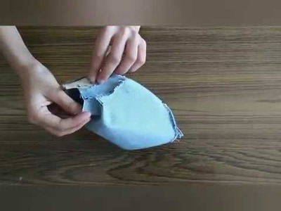 DIY Zipper Pouch Bag Out Of Old Jeans~Tutorial