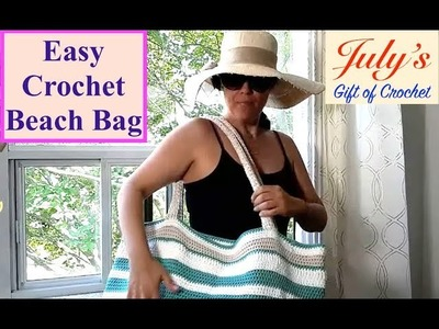 Easy Crochet Beach Bag (July's Gift of Crochet) - The Stitch Sessions #44