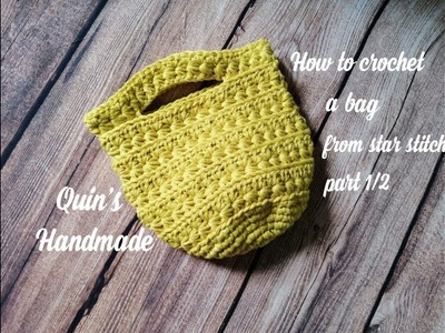 How to crochet a bag from star stitch part 1.2 - Móc túi từ mũi sao phần 1.2