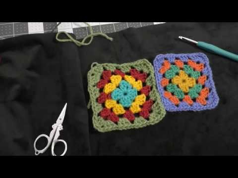 How to Crochet a Granny Square (Right Handed Version)
