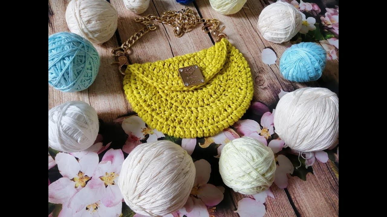 How to crochet a halfmoon bag - Móc túi bán nguyệt