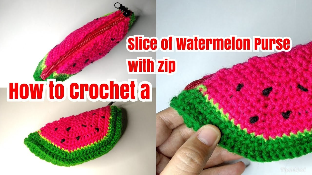How to Crochet a Slice of Watermelon Purse