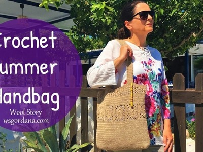 How to Crochet a Summer Beach Handbag