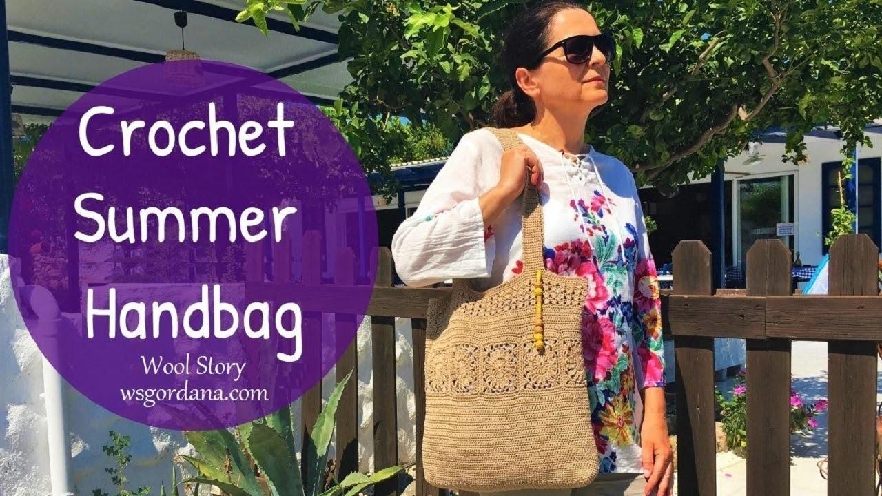 How to Crochet a Summer Beach Handbag