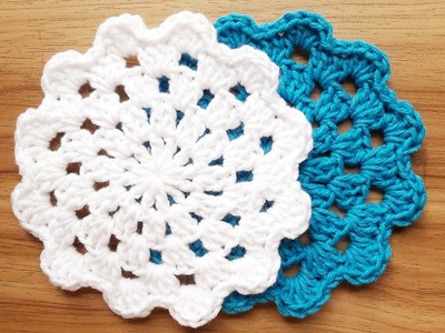 How to Crochet Flower Coaster | Episode 1