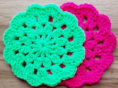 How to Crochet Flower Coaster | Episode 2