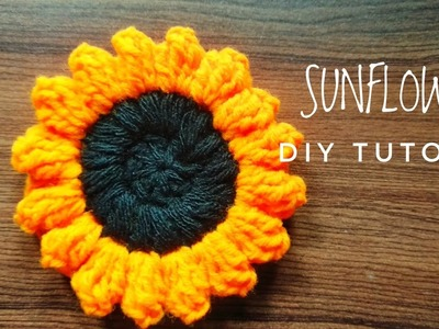 HOW TO CROCHET SUNFLOWER I PART-1 I DIY TUTORIAL