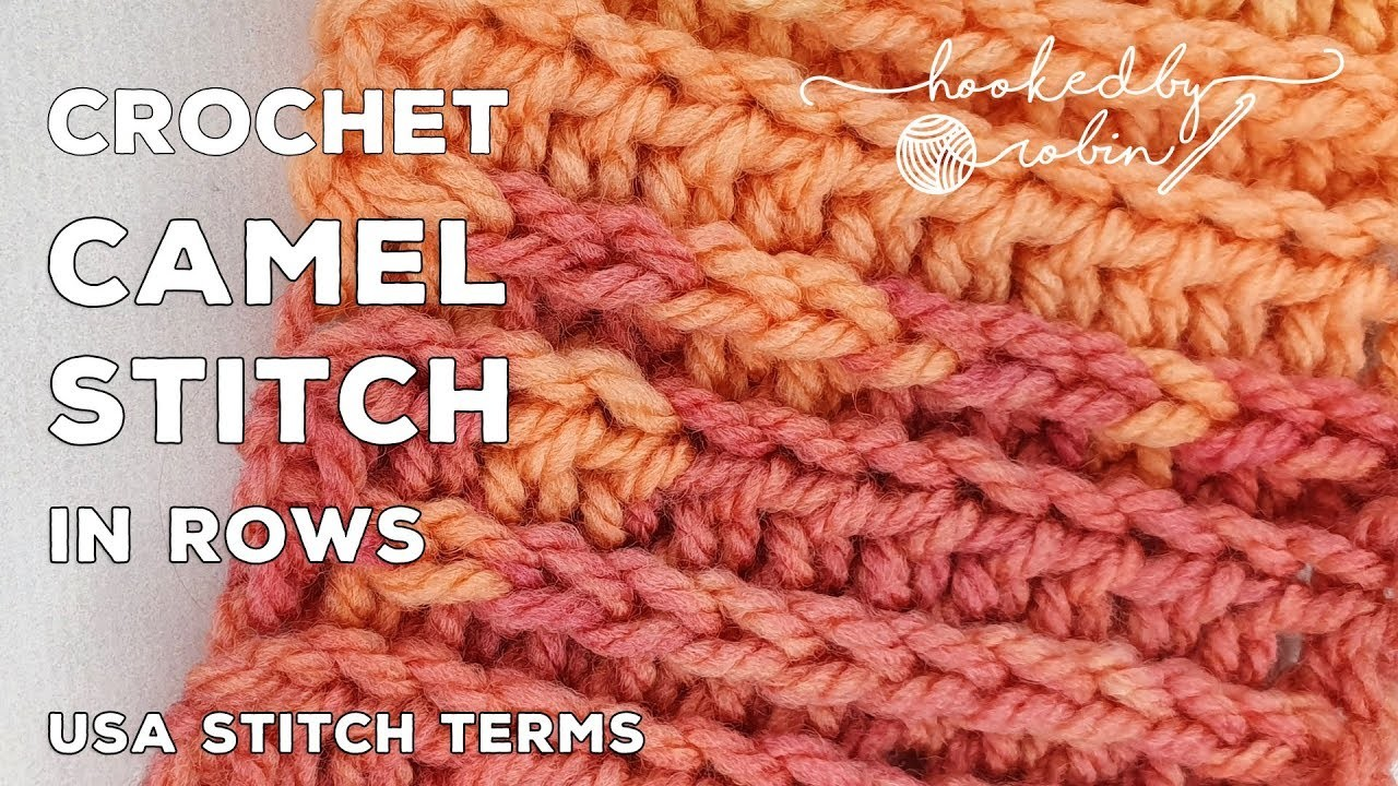 How to Crochet the Camel Stitch in Rows | HDC in the 3rd Loop | Faux Knit Crochet Stitch Tutorials