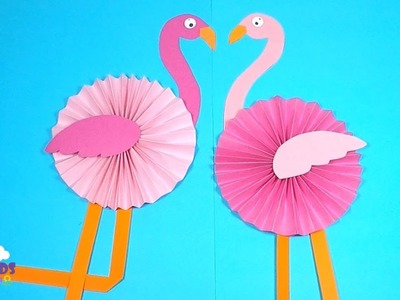 How to Make a Paper Flamingo | Paper Crafts for Kids