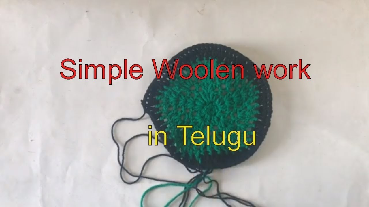 How to make Beautiful doormat. easy work. in Telugu on you tube 2019