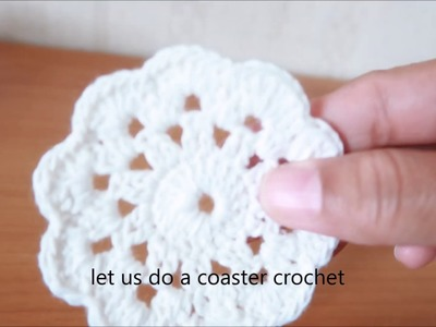 How to make coaster crochet!!!