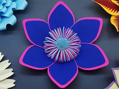 How to Make Paper Flower for Wedding Backdrop | DIY Paper Flowers Wall Decorations
