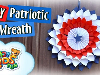 How to Make Patriotic Wreath - 4th of July crafts | Creative Mom