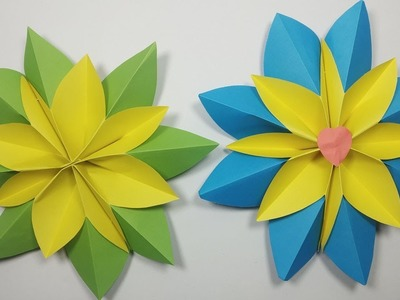 How to make poinsettia flower with paper | DIY - Origami