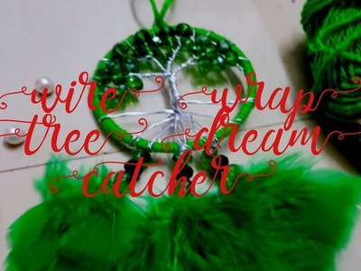 How to make Wire wrap tree  dream catcher tutorial diy. crafito art & craft