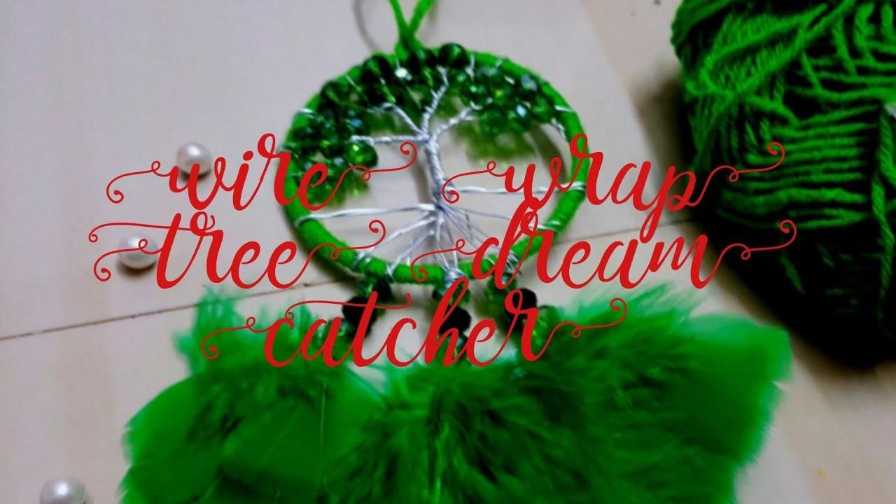 How to make Wire wrap tree  dream catcher tutorial diy. crafito art & craft