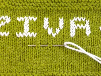 How to write Alphabet , Letters , Name on knitting | Duplicate Stitch By Clydknits.