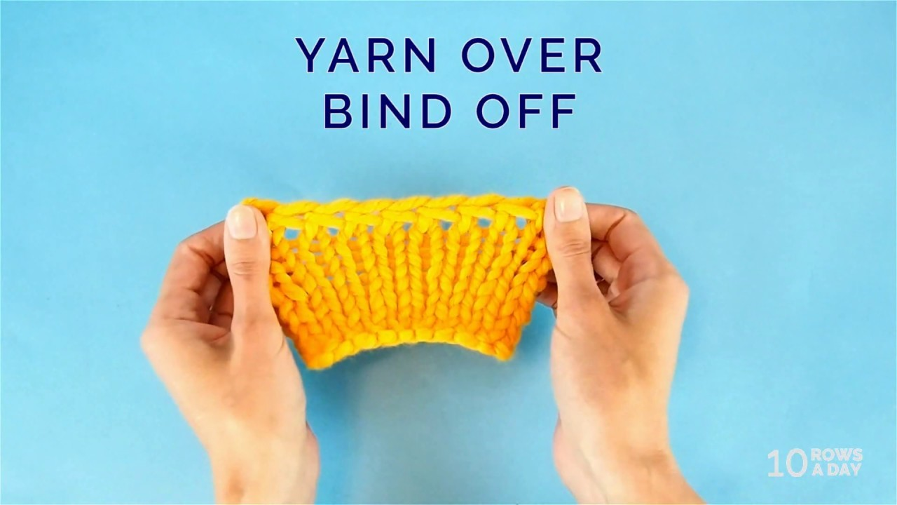 KNITTING in UNDER a MINUTE - Easy Stretchy BIND OFF