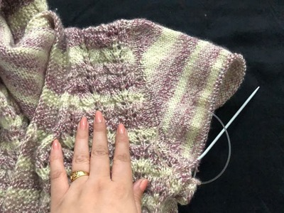 Knitting No need to knit sleeves separately. .  how to make attached sleeves from shoulders