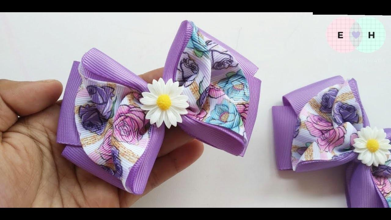 Laço Cherry  ???? Ribbon Bow Tutorial #82 ???? DIY by Elysia Handmade