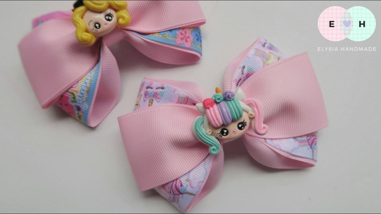 Laço Cruzado ???? Ribbon Bow Tutorial #84 ???? DIY by Elysia Handmade