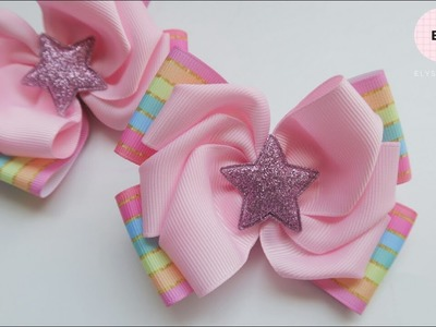 Laço Mosaic ???? Ribbon Bow Tutorial #81 ???? DIY by Elysia Handmade