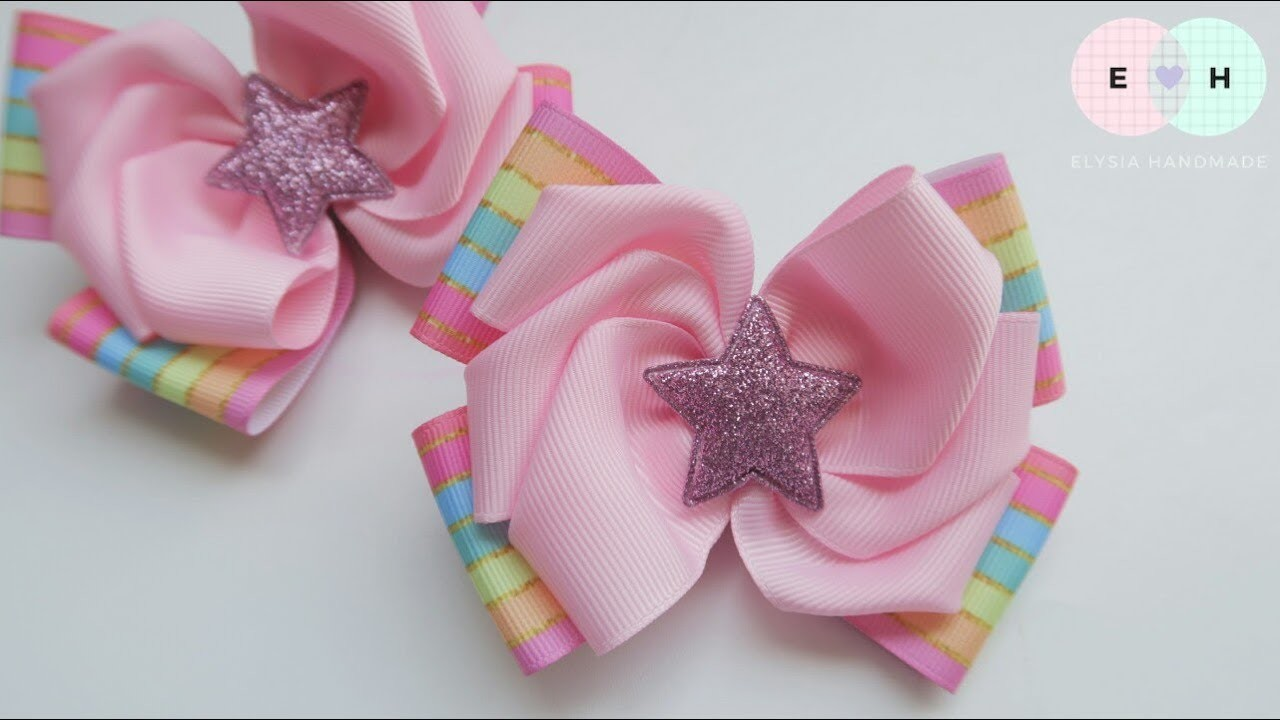 Laço Mosaic ???? Ribbon Bow Tutorial #81 ???? DIY by Elysia Handmade