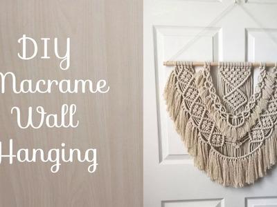 Macrame Wall Hanging DIY Tutorial