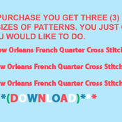 CRAFTS New Orleans French Quarter Cross Stitch Pattern***LOOK***