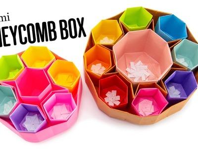 Origami Honeycomb Box - Round Organizer DIY - Paper Kawaii