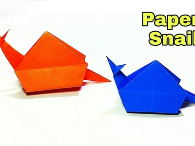 Origami - How to make a Paper Snail || Easy Paper Snail || DIY