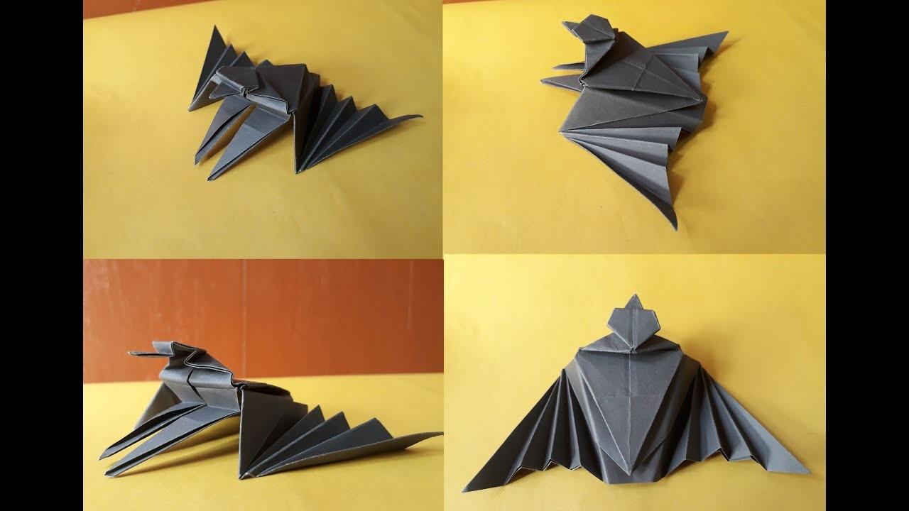 PAPER BAT MAKING TUTORIAL ||  KIDS PAPER CRAFTS VIDEOS || DIY PAPER CRAFTS  || BD CARFTS