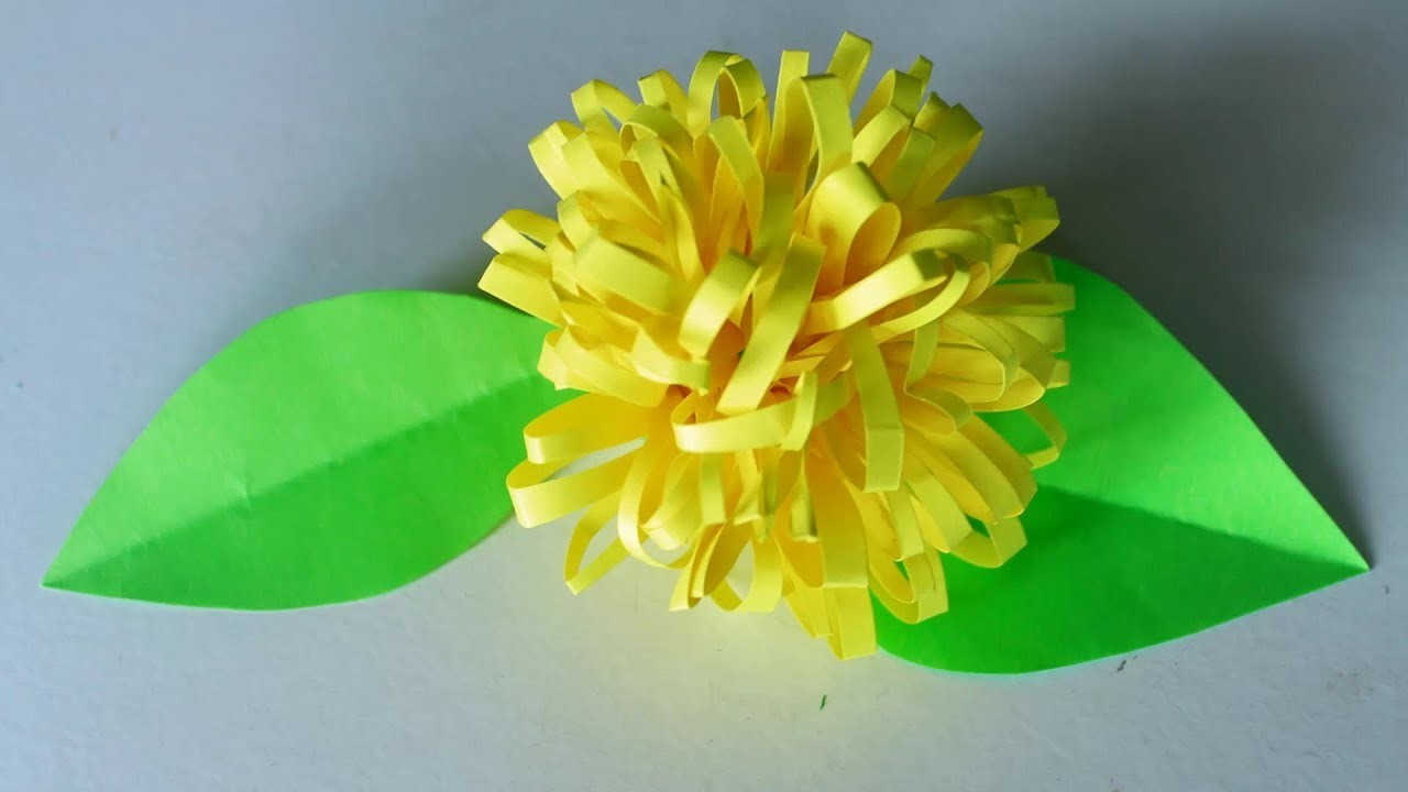 Paper Chamomile Flower Making | Paper Chamanthi Flower | DIY Paper Crafts