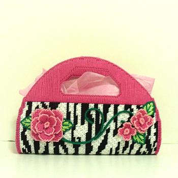 Pink & Zebra print Floral Purse