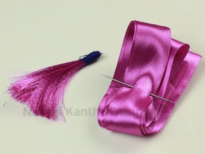 Ribbon Work: How to Make Tassels from Ribbon.Tassel making for kurti, blouse, saree, dresses