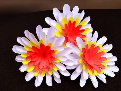 Super easy way to make paper flower | Easy Paper Flowers | DIY Paper Flower Tutorial