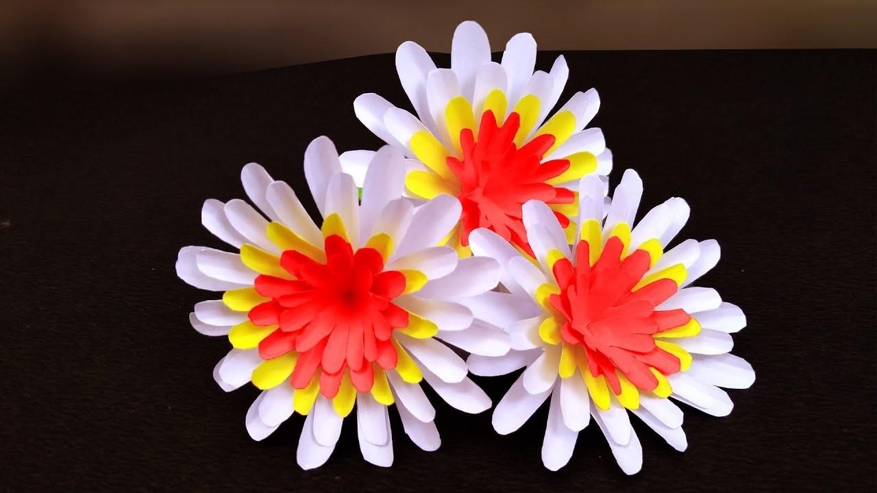 Super easy way to make paper flower   Easy Paper Flowers   DIY Paper Flower Tutorial