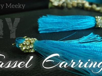 Tassel Earrings | How to make silk thread earrings at home | Jewelry Making | #DIY #VLOG #easy