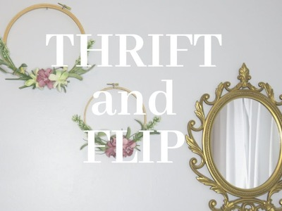 THRIFT AND FLIP | COLLAB WITH LIVING EVEN KEELED |DIY hoop wreath | Summer 2019