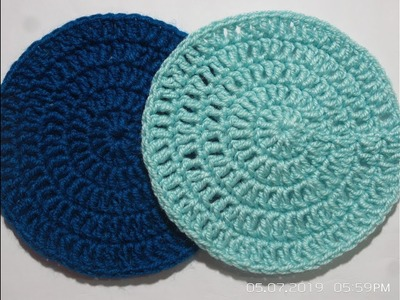 Tutorial:How to Crochet a Flat Circle |Sam Crochet | hindi\urdu