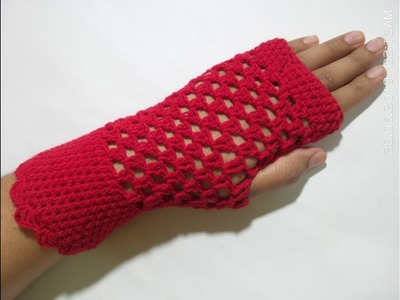 Tutorial:How to Crochet Fingerless Gloves | Sam Crochet | Hindi\urdu