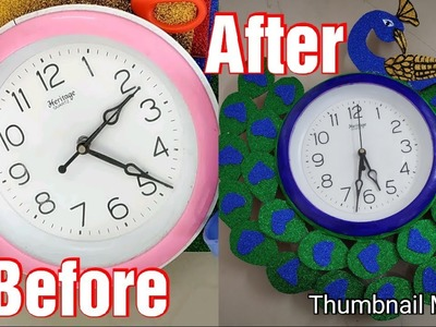 Tutorial On How To Make Old Clock Into New Stylish Clock   DIY Craft Make Old Wall Clock Into New