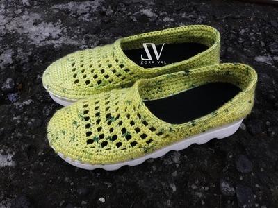 Tutorial Rajut || Puring Crochet Shoes || Part 2