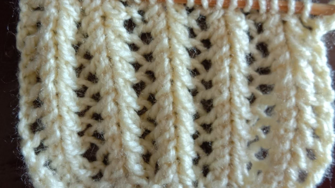 Very pretty knitting design for any project of ladies