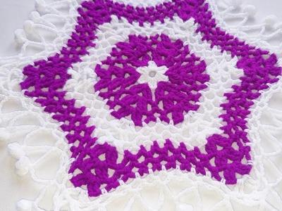 Woolen rumal, crochet tutorial,hindi ,crosia thalposh, #135 ,by||Santosh All Art ||