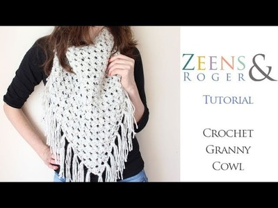 Z&R Crochet Tutorial: Asymmetric Granny Cowl